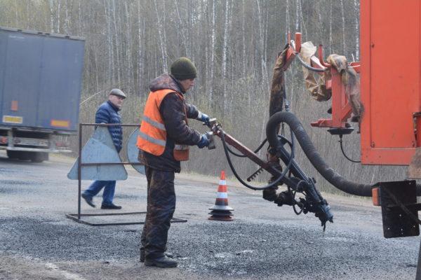 На дорогах района:  Затяжная весна не помеха