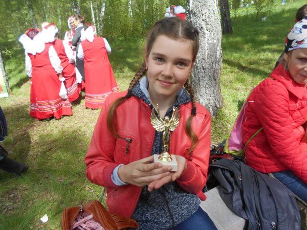 Катя на Пушкинском празднике