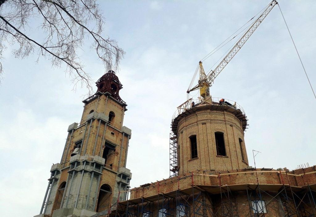 В Костроме завершается строительство Богоявленского собора Костромского кремля