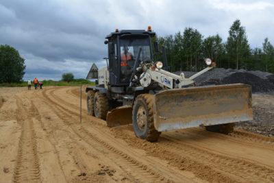 Строительство дороги в Лисицине идет полным ходом