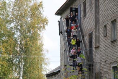 В Мантурове прошли учебные эвакуации