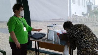 Мантуровцы голосуют прямо во дворах