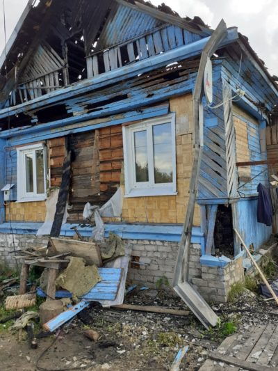 Пожар оставил без крова многодетную семью