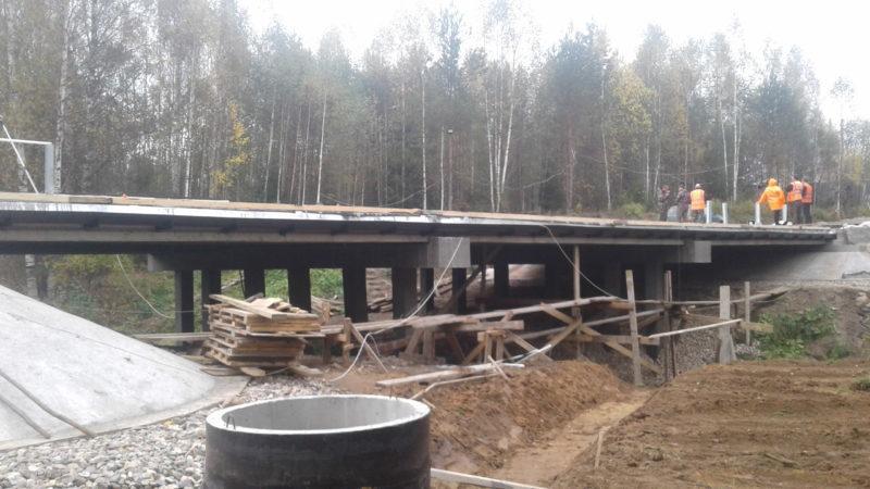В трудовых коллективах: В Костромской области на реке Юг — новый мост