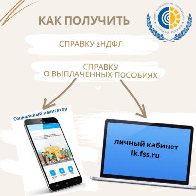 ФСС в руках каждого: Справки о доходах или выплатах можно заказать через мобильное приложение «Социальный навигатор».